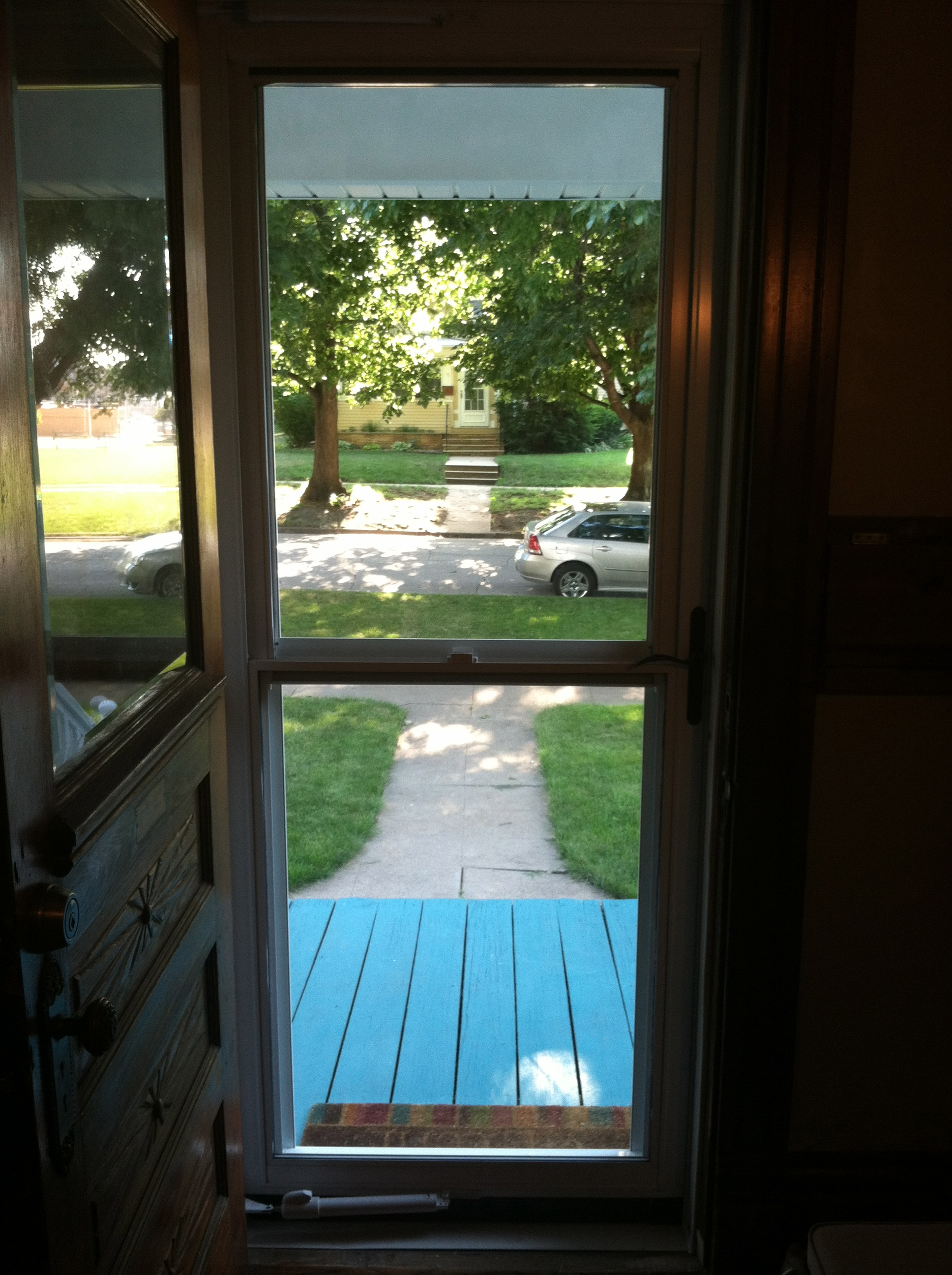 Open Front Door From Inside home improvement – sweeping the porch